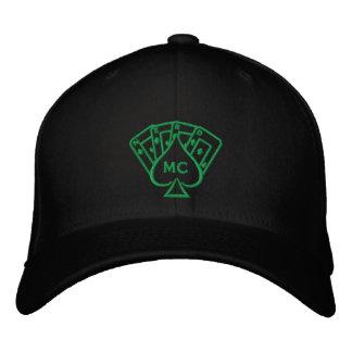 Embroidered Hat Green Stitch