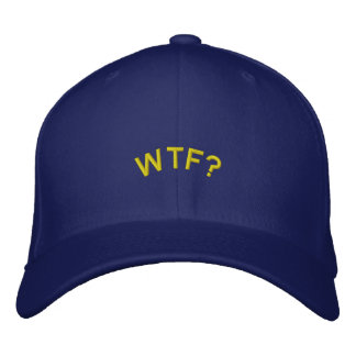 Embroidered Hat: WTF? Embroidered Hat
