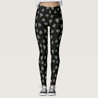 Embroidered-look Leggings