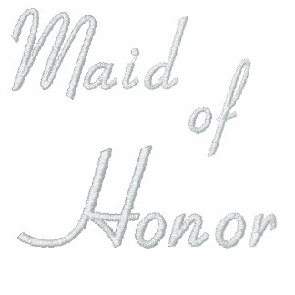 Embroidered Maid of Honour Shirt