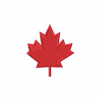 Embroidered Maple Leaf - Canadian Pride! Embroidered Fleece Track Jacket