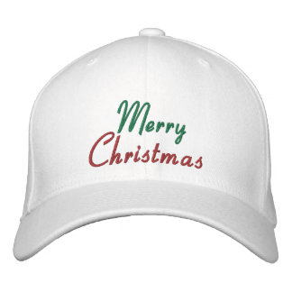 Embroidered Merry Christmas Cap