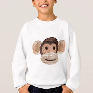 Embroidered Monkey Head Sweatshirt
