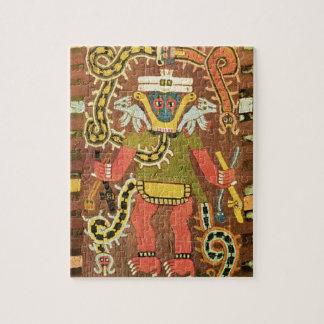 Embroidered mythological figure, Paracas Necropoli Jigsaw Puzzle