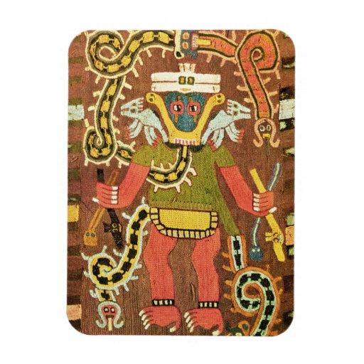 Embroidered mythological figure, Paracas Necropoli Rectangular Magnet