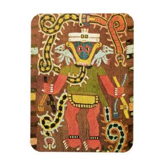 Embroidered mythological figure, Paracas Necropoli Rectangular Photo Magnet