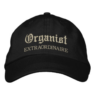 Embroidered Organist Extraordinaire Music Cap