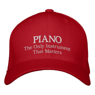 Embroidered Piano Hat With Slogan Embroidered Baseball Cap