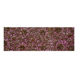 Embroidered Pink Fabric New Delhi India Print