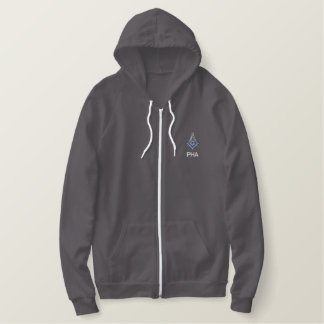 Embroidered Prince Hall Mason Square and Compass Embroidered Hoodie