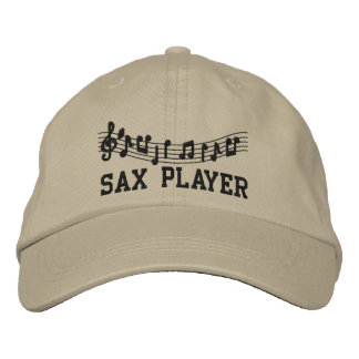 Embroidered Sax Player Hat