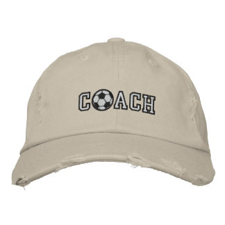 Embroidered Soccer Coach Baseball Cap