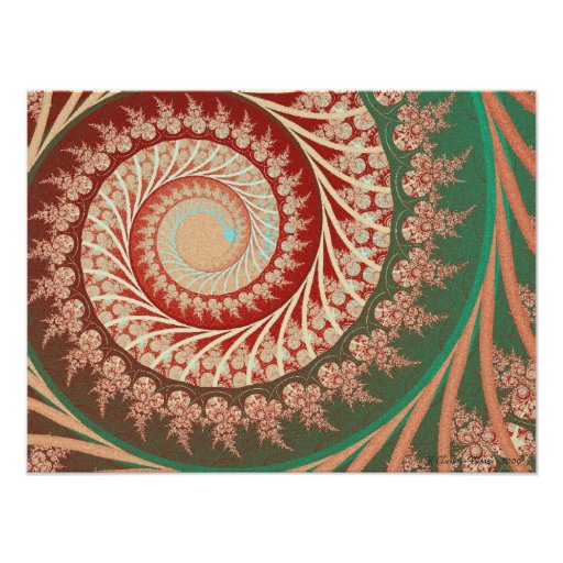 Embroidered Spiral Posters