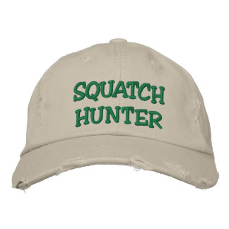 Embroidered SQUATCH HUNTER Hat - *BOBO* Edition Embroidered Hat