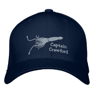 Embroidered Squid Captain''s Hat