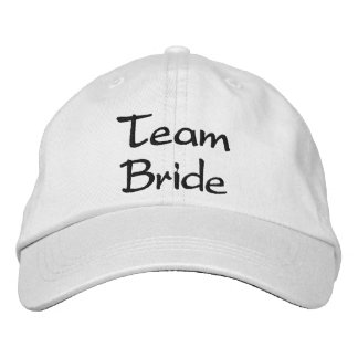Embroidered Team Bride Wedding Cap Embroidered Baseball Caps