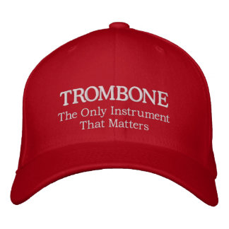 Embroidered Trombone Hat With Slogan Embroidered Hat