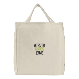 Embroidered TruthCuresLymeTote Embroidered Tote Bag
