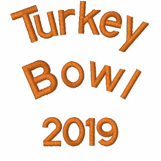 Embroidered Turkey Bowl  - Change to Current Year