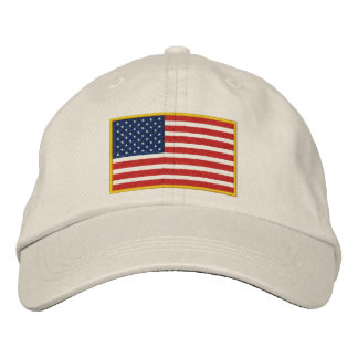 Embroidered USA Flag Hat