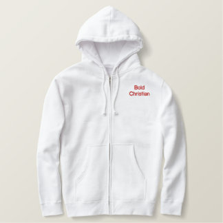 Embroidered Zip Hoodie - heavyweight