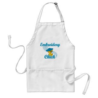 Embroidery Chick #3 Standard Apron
