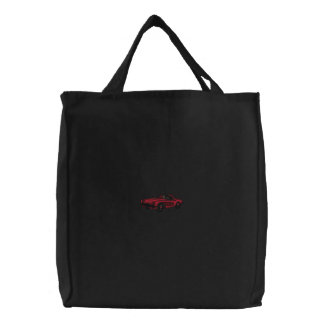 EMBROIDERY - Classic Car - Red Embroidered Bags