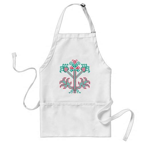 Embroidery design apron