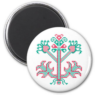 Embroidery design 6 cm round magnet