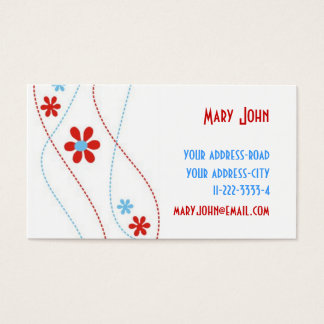Embroidery Design-Unique Business Cards