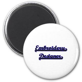 Embroidery Designer Classic Job Design 6 Cm Round Magnet