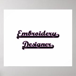 Embroidery Designer Classic Job Design Poster