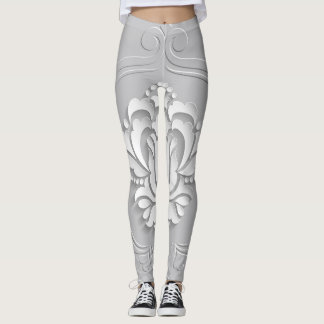 Embroidery Floral Leggings