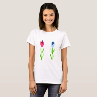 Embroidery-like Flower T-Shirt