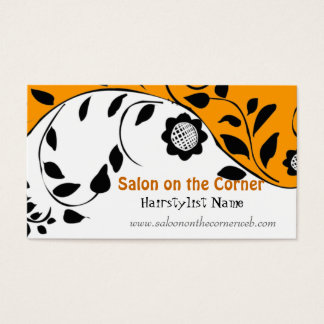 Embroidery Vintage Style Floral Stylish Bold Business Card