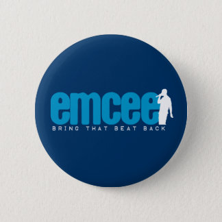 Emcee (MC) - Blue 6 Cm Round Badge