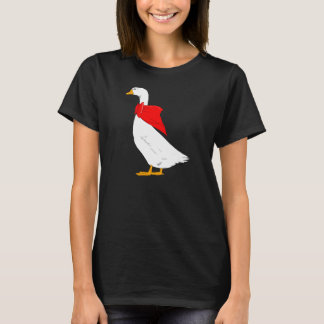 Emden goose with red bow scarf T-Shirt