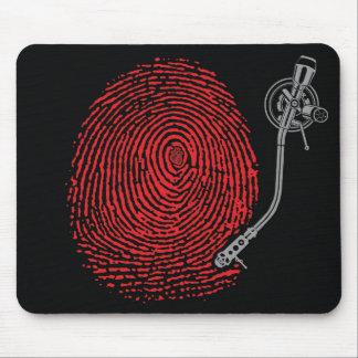 Emek thumbprint record mouse pad