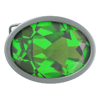 Emerald 1 oval belt buckles