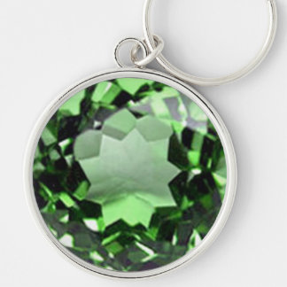 Emerald 1 Silver-Colored round key ring