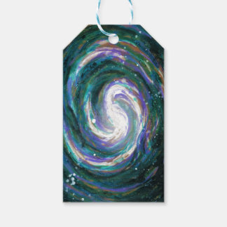 Emerald and Purple Galaxy Gift Tags