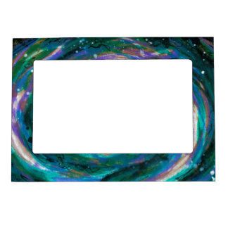 Emerald and Purple Galaxy Magnetic Frame