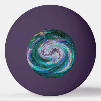 Emerald and Purple Galaxy Ping Pong Ball