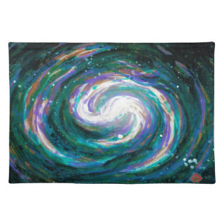 Emerald and Purple Galaxy Placemat
