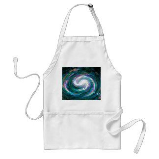 Emerald and Purple Galaxy Standard Apron