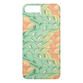 Emerald and salmon pattern iPhone 7 plus case