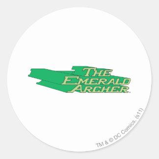 Emerald Archer Logo Round Sticker