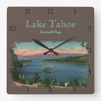 Emerald Bay Lake Tahoe Custom Square Wall Clock