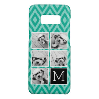 Emerald & Black Instagram 5 Photo Collage Monogram Case-Mate Samsung Galaxy S8 Case