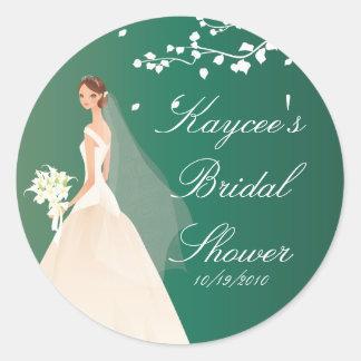 Emerald Bride Bridal Shower Sticker
